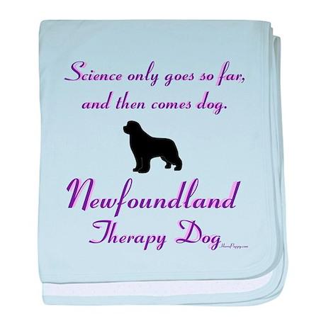 Newfoundland Therapy Dog baby blanket