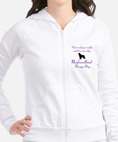 Newfoundland Therapy Dog Fitted Hoodie