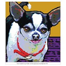 Black & White Chihuahua Poster
