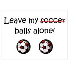 Leave My Soccer Balls Alone! Poster