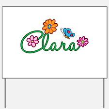 Clara Flowers Yard Sign