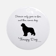 Therapy Dog Ornament (Round)