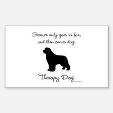 Therapy Dog Sticker (Rectangle)