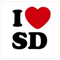 I Heart SD San Diego Poster