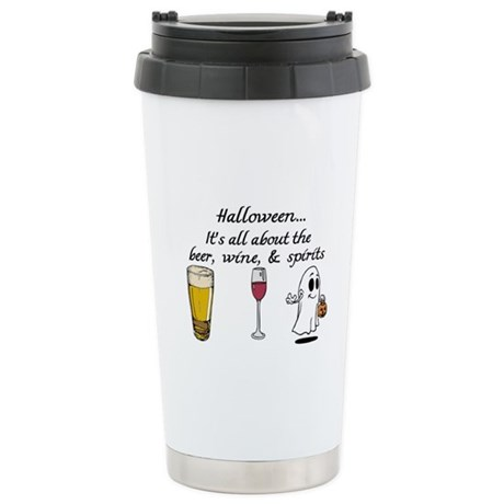 Beer, Wine, and Spirits Stainless Steel Travel Mug