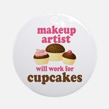 Funny Makeup Artist Ornament (Round)