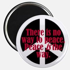 There is no way to peace. Pe Magnet