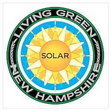 Living Green New Hampshire Solar Energy Small Fram Poster