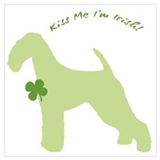 Airedale... Kiss Me I'm Irish! Poster