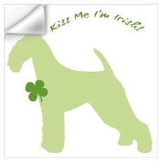 Airedale... Kiss Me I'm Irish! Wall Decal