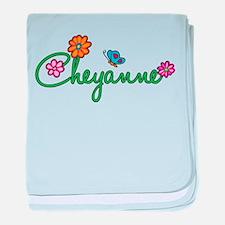 Cheyanne Flowers baby blanket