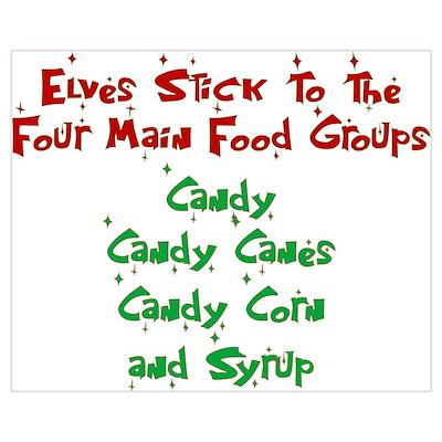 Elves - Food Groups Poster