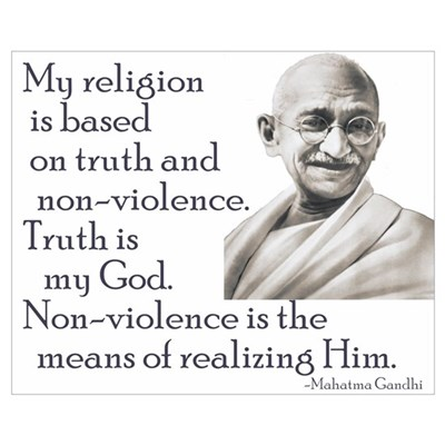 Gandhi quote - Truth is my Go Framed Print