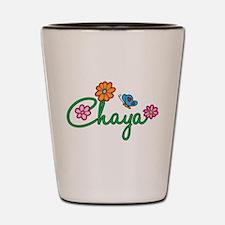 Chaya Flowers Shot Glass