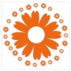 Sunflowers orange Poster