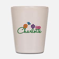 Charlotte Flowers Shot Glass
