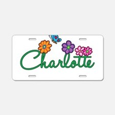 Charlotte Flowers Aluminum License Plate