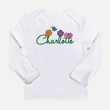Charlotte Flowers Long Sleeve Infant T-Shirt