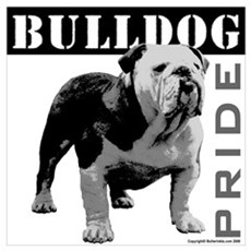 Bulldog Pride Canvas Art