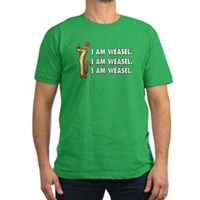 I Am Weasel Song Men's Fitted T-Shirt (dark)