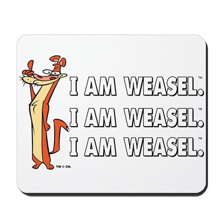 I Am Weasel Song Mousepad