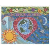 Earth day Wrapped Canvas Art