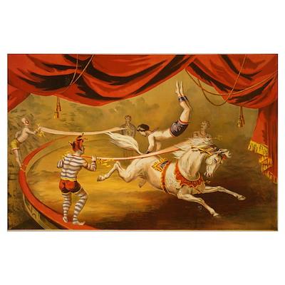 Acrobat Banner Circus Act Poster