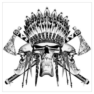 Indian Skull Tribe Poster
