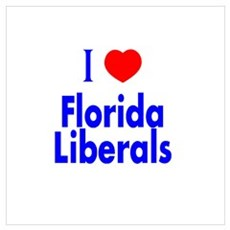 I Love Florida Liberals Poster