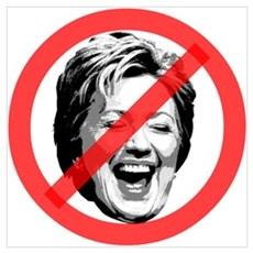 No To Hillary Canvas Art