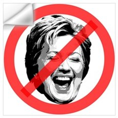 No To Hillary Wall Decal