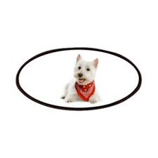 Westie With Red Bandana Patches