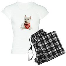 Westie With Red Bandana Pajamas