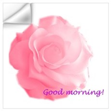 Good Morning Rose Wall Decal