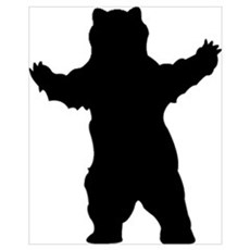 Growling Grizzly Bear Poster