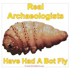 Real Archaeologists Have Had A Bot Fly Poster