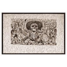Calavera of Oaxaca Print Poster
