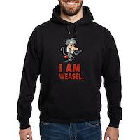 I Am Weasel Baboon Hoodie (dark)