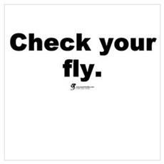 Check your fly Poster