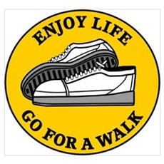 Enjoy Life Go For A Walk Framed Print