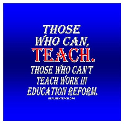 Those who can't teach...(blue) Poster