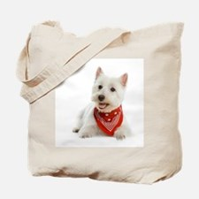 Westie With Red Bandana Tote Bag