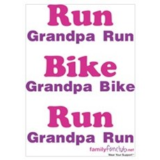 Duathlon Grandpa Poster