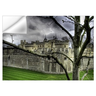 Moody Tower of London Wall Decal