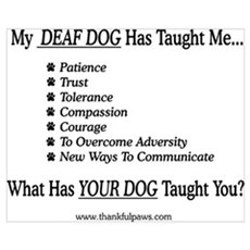 My Deaf Dog Taught Me Poster