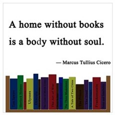 """""""A Home without Books"""" Poster"""