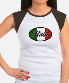 Italia Women's Cap Sleeve T-Shirt