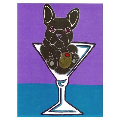 Black/Brindle French Bulldog Poster