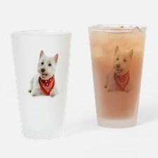 Westie With Red Bandana Drinking Glass