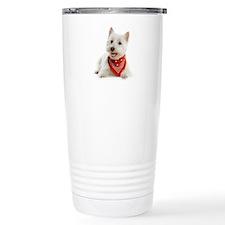 Westie With Red Bandana Travel Mug
